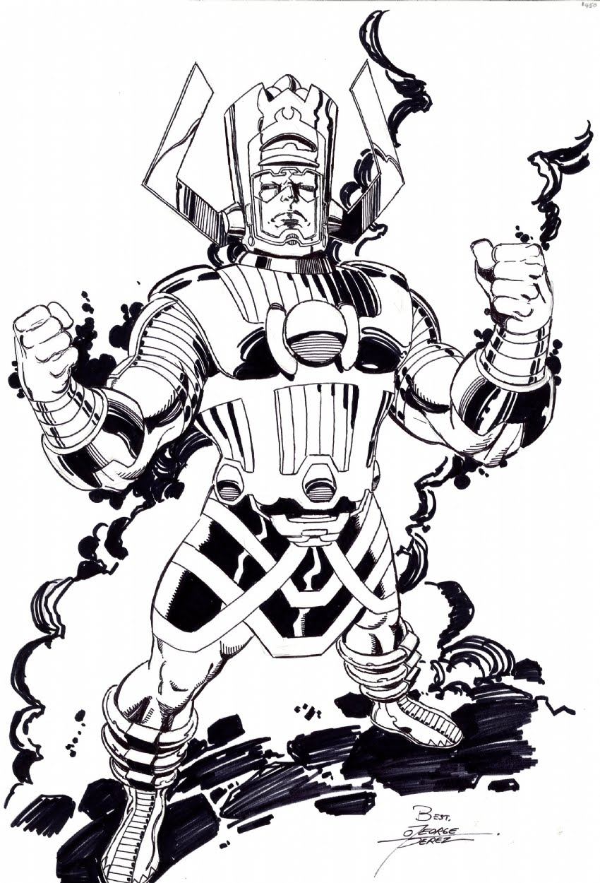 Galactus 2009 Art By George Perez From Kirk Dilbeck on four box